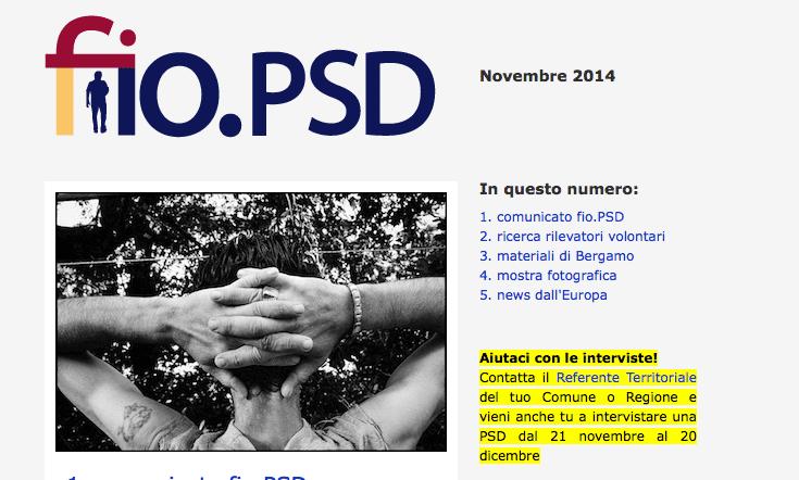 Newsletter fio.PSD – Novembre 2014