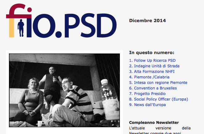 Newsletter fio.PSD – Dicembre 2014