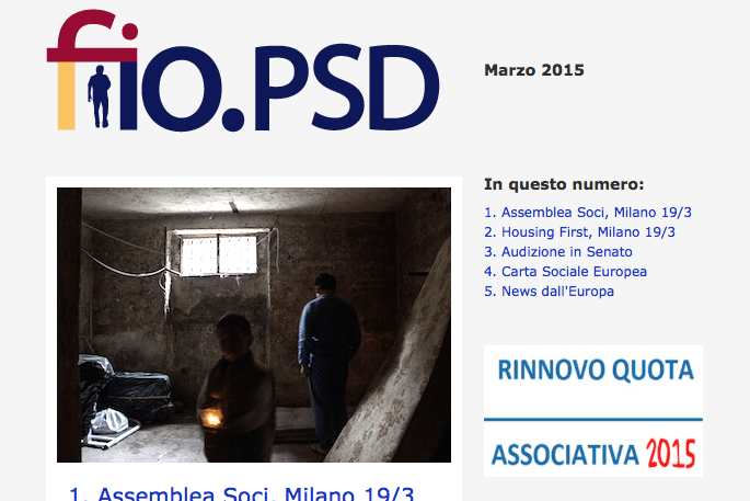Newsletter fio.PSD – Marzo 2015
