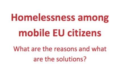 Homelessness among EU mobile citizens