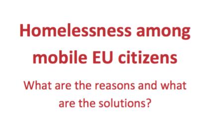 Homelessness among EU mobile citizens