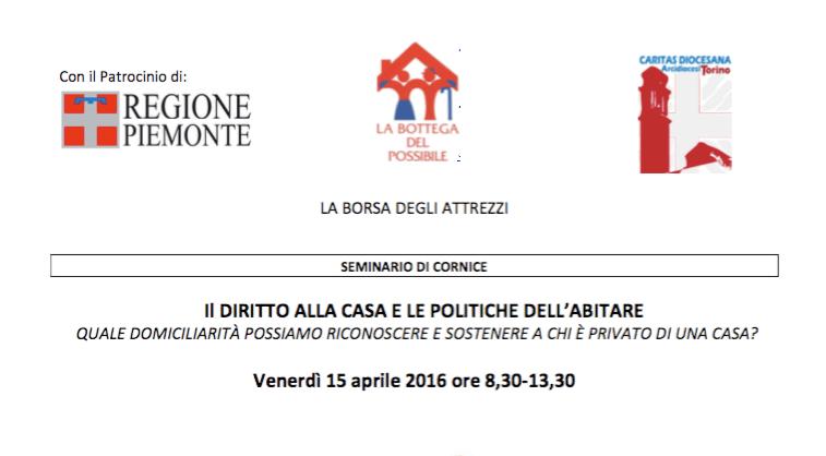 Il DIRITTO ALLA CASA E LE POLITICHE DELL'ABITARE