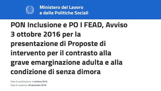 CS Avviso Bando Ministero LPS
