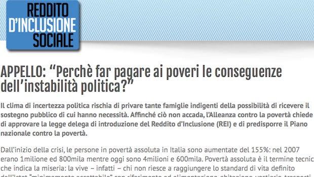 Perchè far pagare ai poveri le conseguenze dell'instabilità politica?