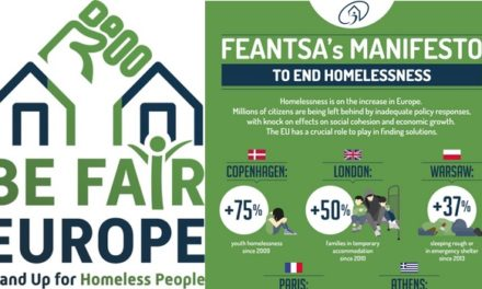 Be Fair, Europe – Stand Up for Homeless People