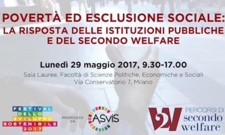 """29 maggio – Milano """"Povertà ed esclusione sociale"""""""