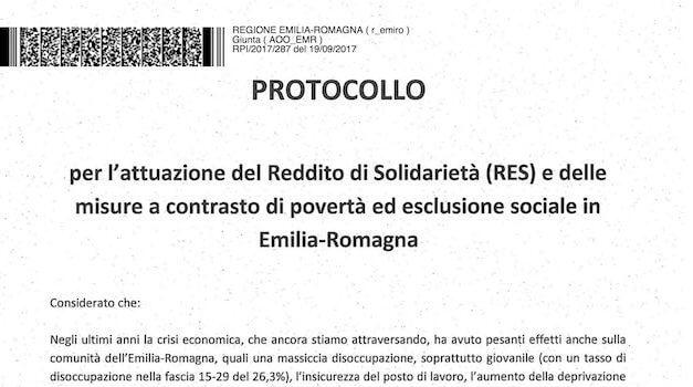 Solidarity revenue (RES) in Emilia Romagna