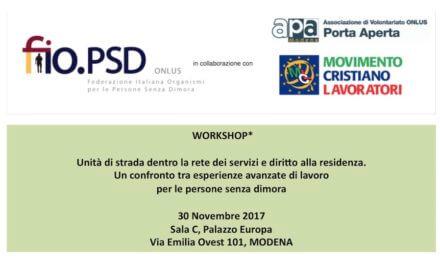 30 novembre , Modena – Workshop GLN