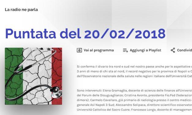 Radio Uno – La Radio ne Parla – Intervista a Cristina Avonto