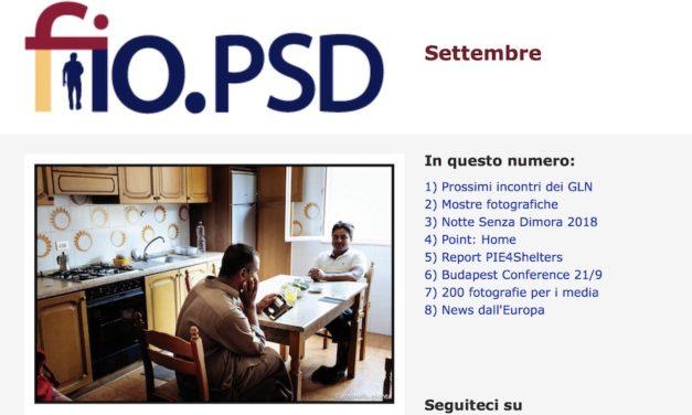 Newsletter fio.PSD, Settembre 2018