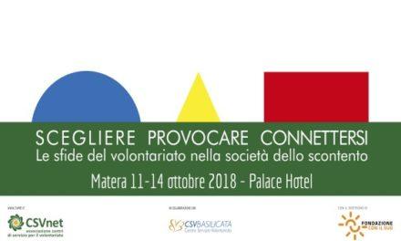 13 ottobre – Matera. conferenza CSVnet