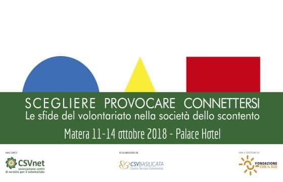 13 Octobre – Matera. Conférence CSVnet
