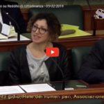 Audizione in Senato sul Reddito di Cittadinanza