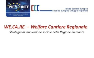We.Ca.Re. (Welfare Cantiere Regionale), Piemonte