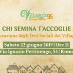 22 giugno – Roma, inaugurazione orti sociali