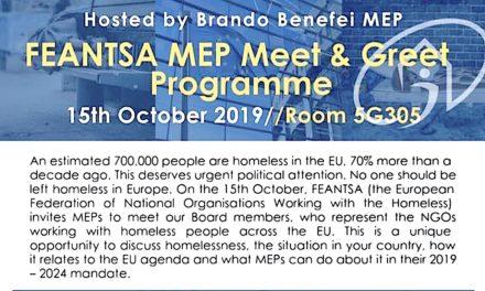 15 Ottobre, Bruxelles – incontro con Euro Parlamentari