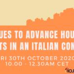 Seminario sul Diritto alla Casa in Italia