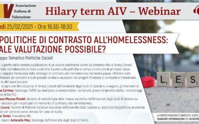 Le politiche di contrasto all'Homelessness: quale valutazione possibile?