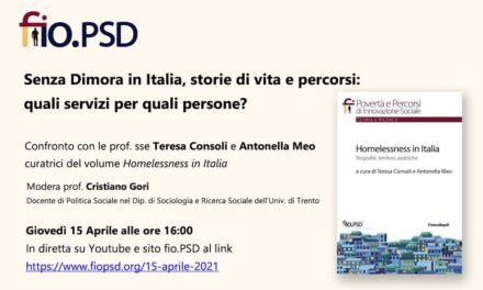 15 Aprile 2021 – Senza Dimora in Italia…..