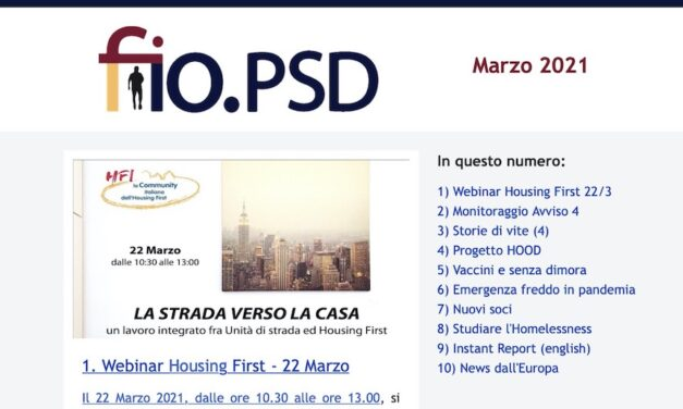 Newsetter fio.PSD – Marzo 2021