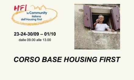 Corso Base Housing First – 23 Settembre/1 Ottobre 2021