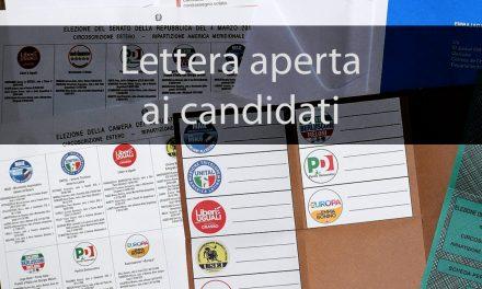 Lettera ai candidati Sindaco/a